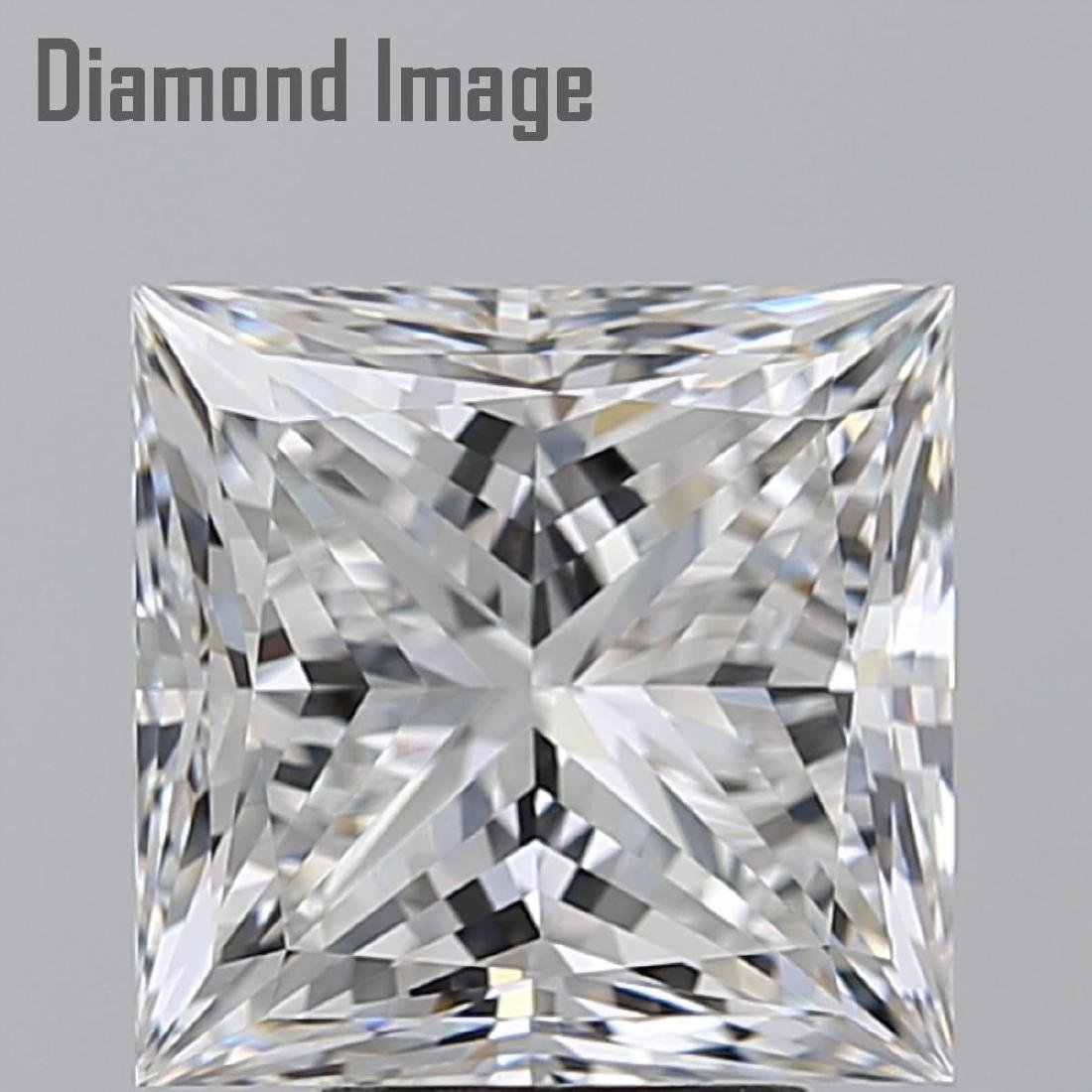 5.02 ct, Color F/VVS2, Princess cut Diamond - 2