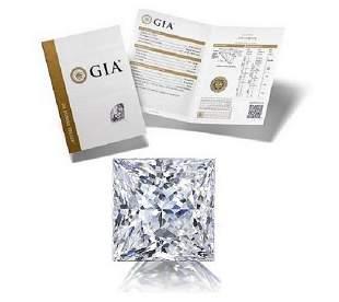 206 ct Color DVS2 Princess cut Diamond