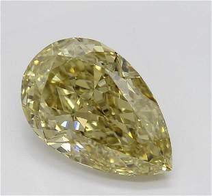 202 ct Brown YellowVVS2 Pear cut Diamond