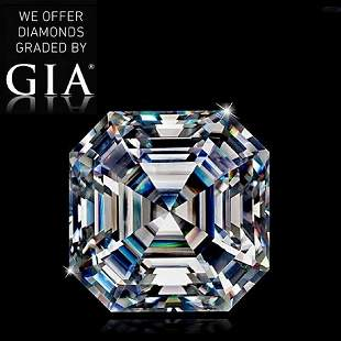 102 ct Color IVS1 Sq Emerald cut Diamond