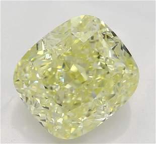 255 ct Lt YellowIF Cushion cut Diamond