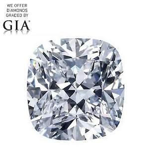 101 ct Color GVVS2 Cushion cut Diamond