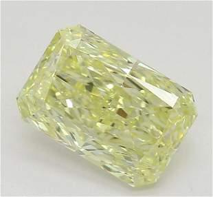128 ct Lt YellowIF Radiant cut Diamond