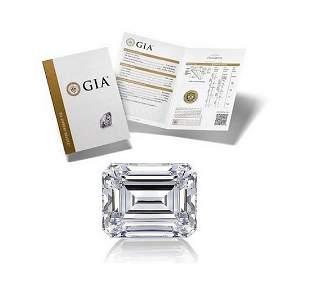 100 ct Color GVVS1 Emerald cut Diamond