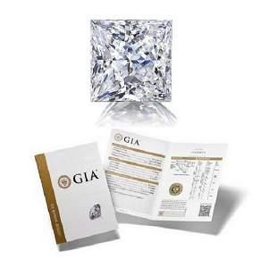 203 ct Color DVS1 Princess cut Diamond