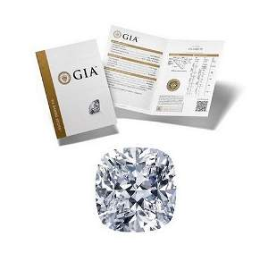 351 ct Color GVVS2 Cushion cut Diamond