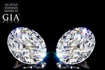 6.02 ct Round cut Diamond Pair