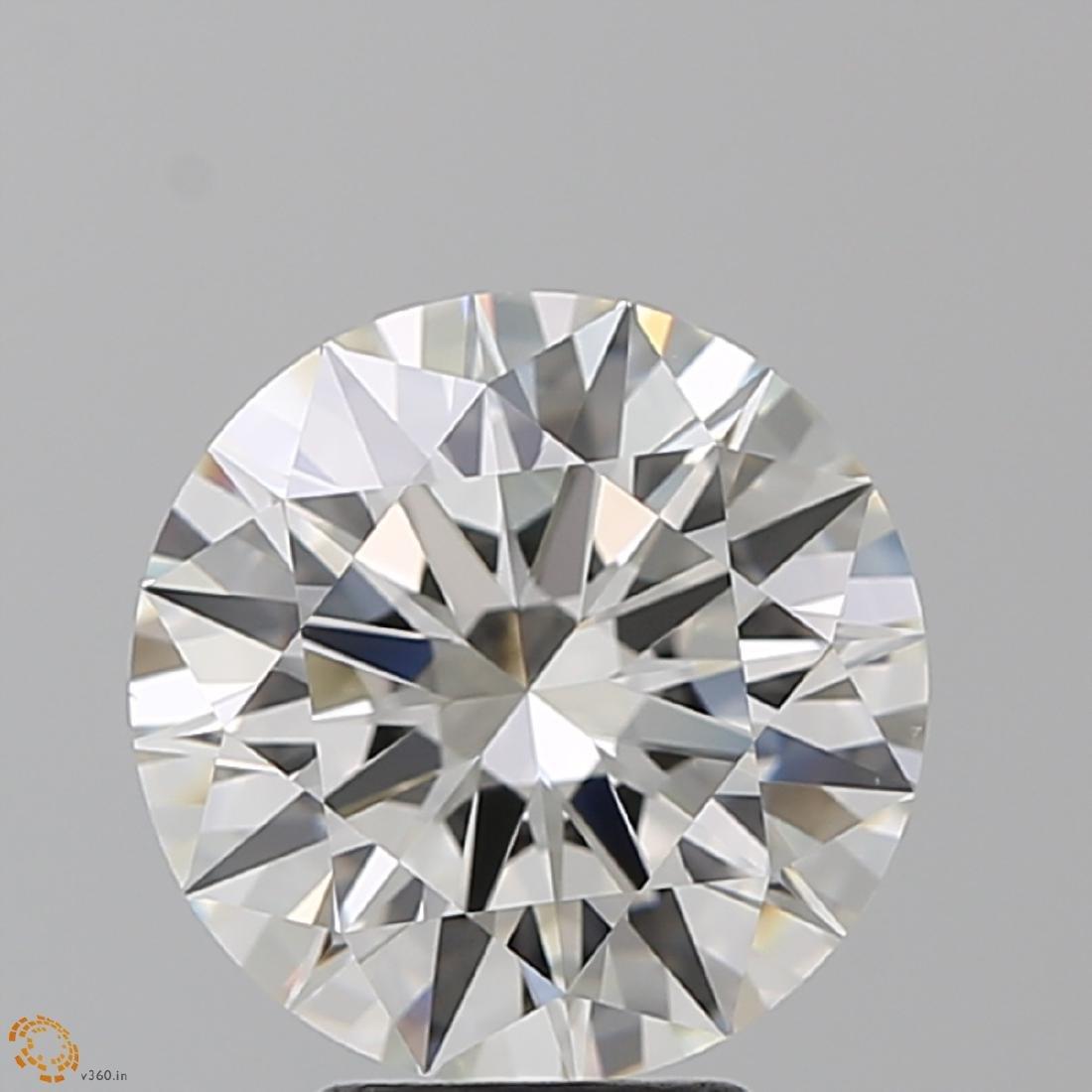 4.01 ct, Color I/VS1, Round cut Diamond - 2