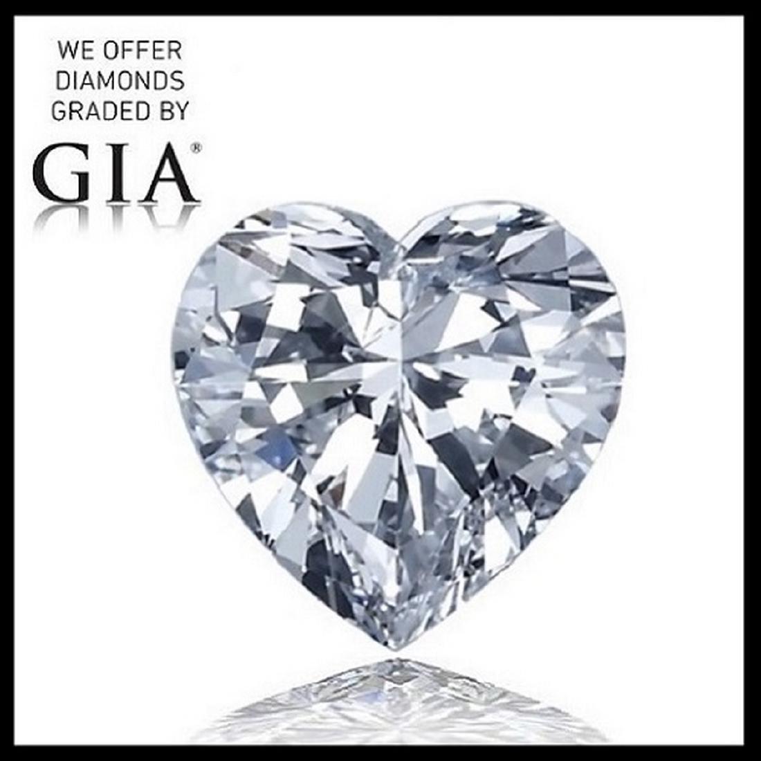 2.01 ct, Color F/VS1, Heart cut Diamond
