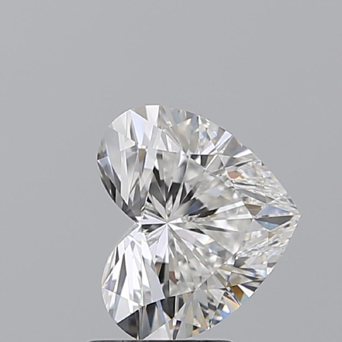 2.01 ct, Color F/VS1, Heart cut Diamond - 2