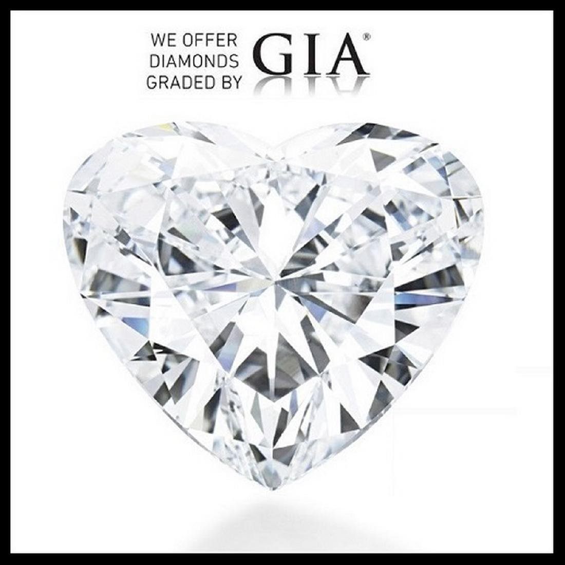 5.01 ct, Color F/VVS2, Heart cut Diamond