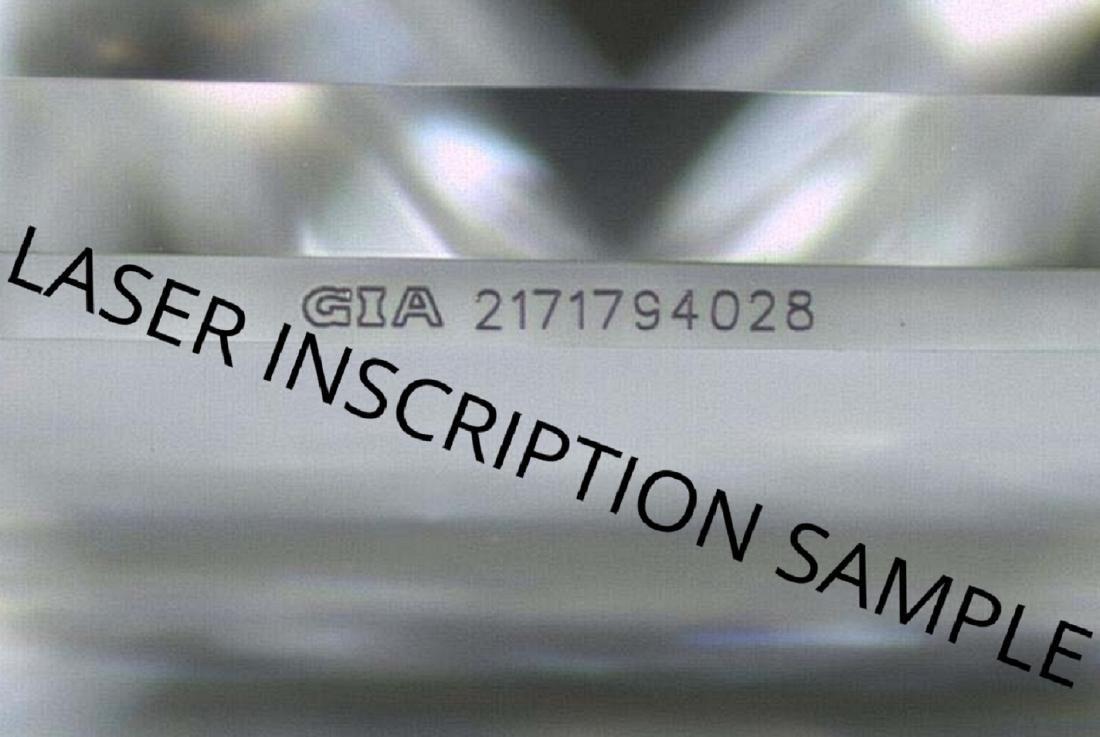 5.01 ct, Color F/VVS2, Heart cut Diamond - 4