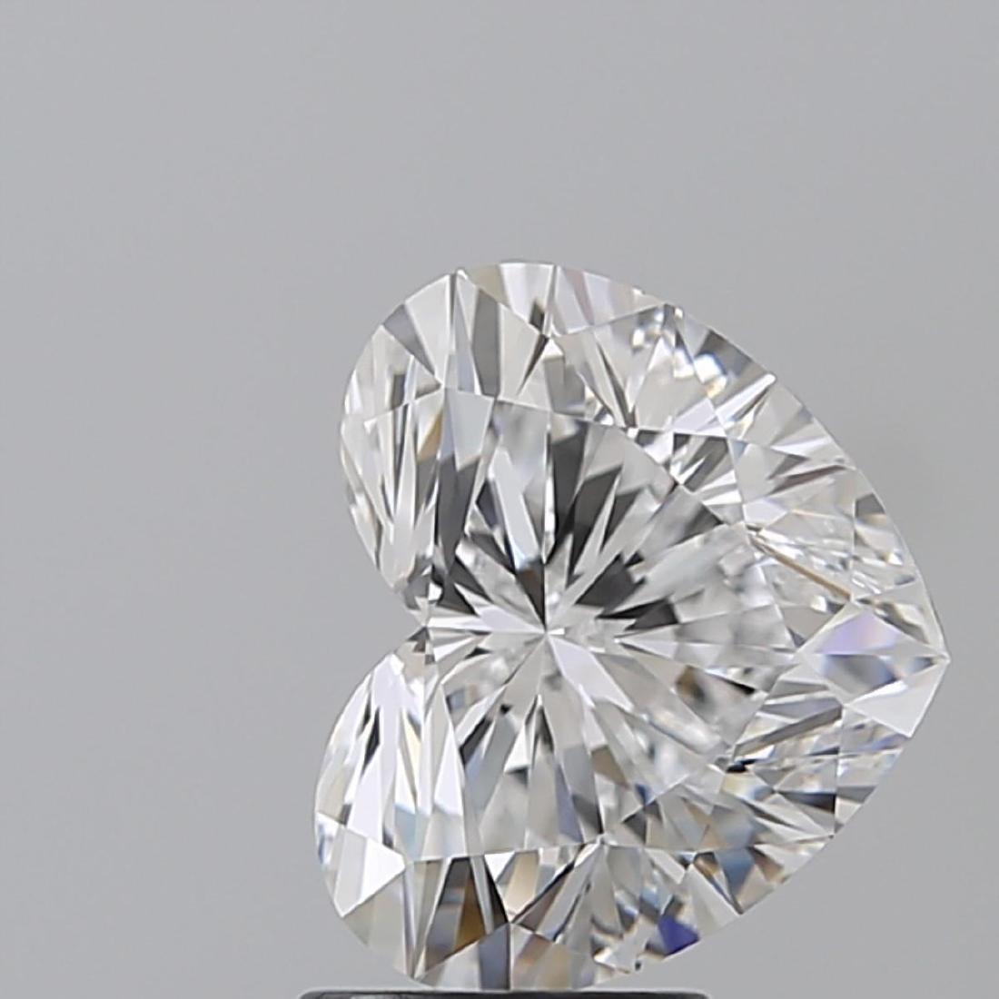 3.01 ct, Color D/IF, Heart cut Diamond - 2
