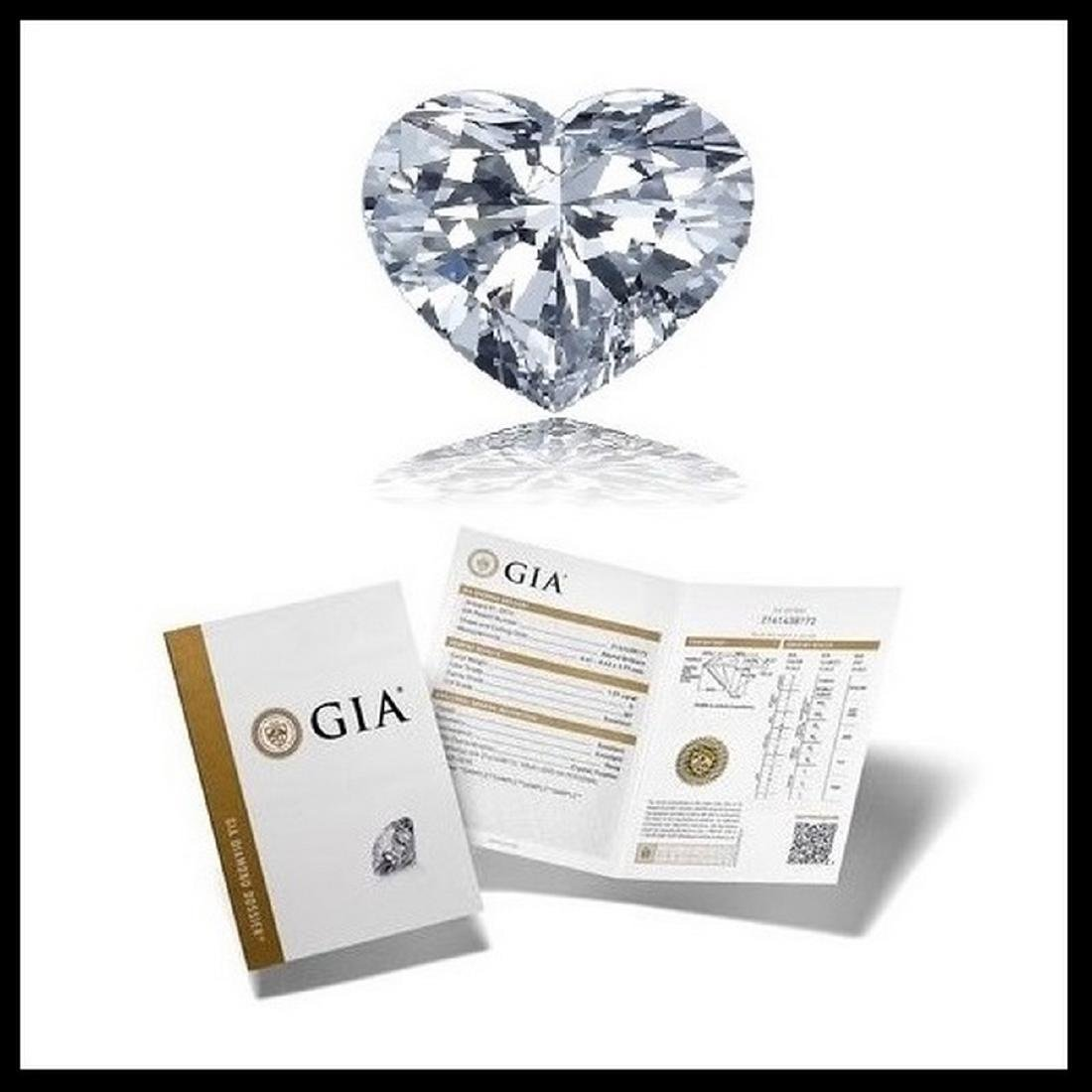 2.04 ct, Color F/VVS1, Heart cut Diamond
