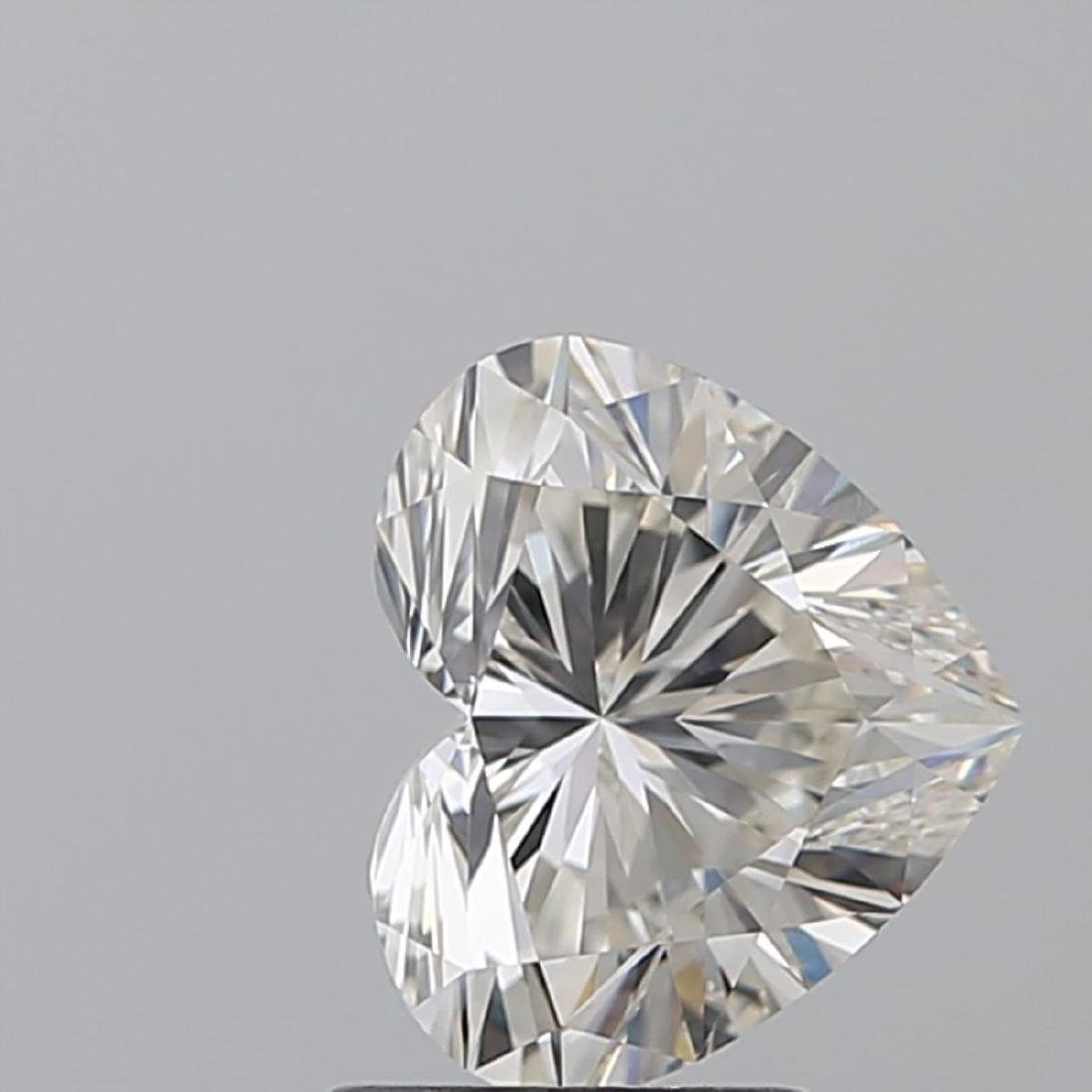2.04 ct, Color F/VVS1, Heart cut Diamond - 2