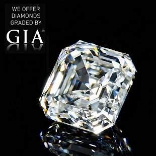 101 ct Color GVVS2 Sq Emerald cut Diamond