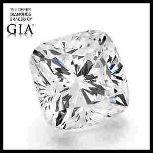 102 ct Color HVVS2 Cushion cut Diamond