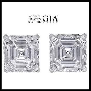 203 ct Sq Emerald cut Diamond Pair