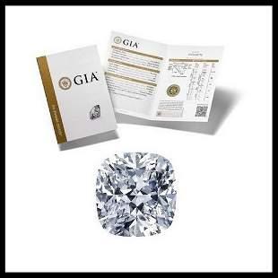 101 ct Color GVS1 Cushion cut Diamond