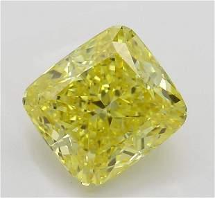 221 ct Vivid YellowVVS2 Cushion cut Diamond
