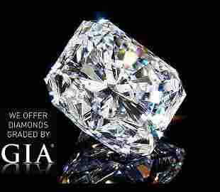 401 ct Color HIF Radiant cut Diamond
