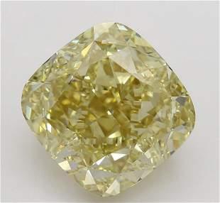 551 ct Brown YellowVS1 Cushion cut Diamond
