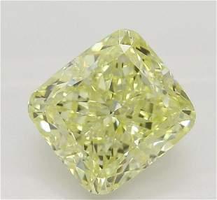 161 ct YellowIF Cushion cut Diamond