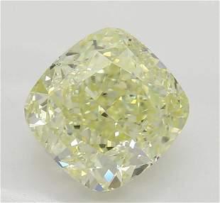 201 ct Lt YellowVS2 Cushion cut Diamond