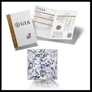 101 ct Color EVS2 Princess cut Diamond