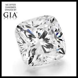 5.50 ct, Color D/VS1, Cushion cut Diamond