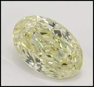 353 ct Lt YellowVS2 Oval cut Diamond