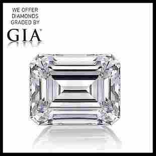 201 ct Color GVVS2 Emerald cut Diamond