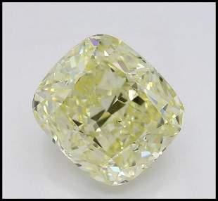 301 ct YellowVS1 Cushion cut Diamond