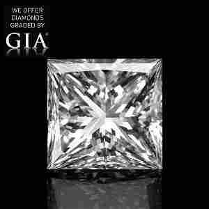 7.02 ct, Color F/VS2, Princess cut Diamond