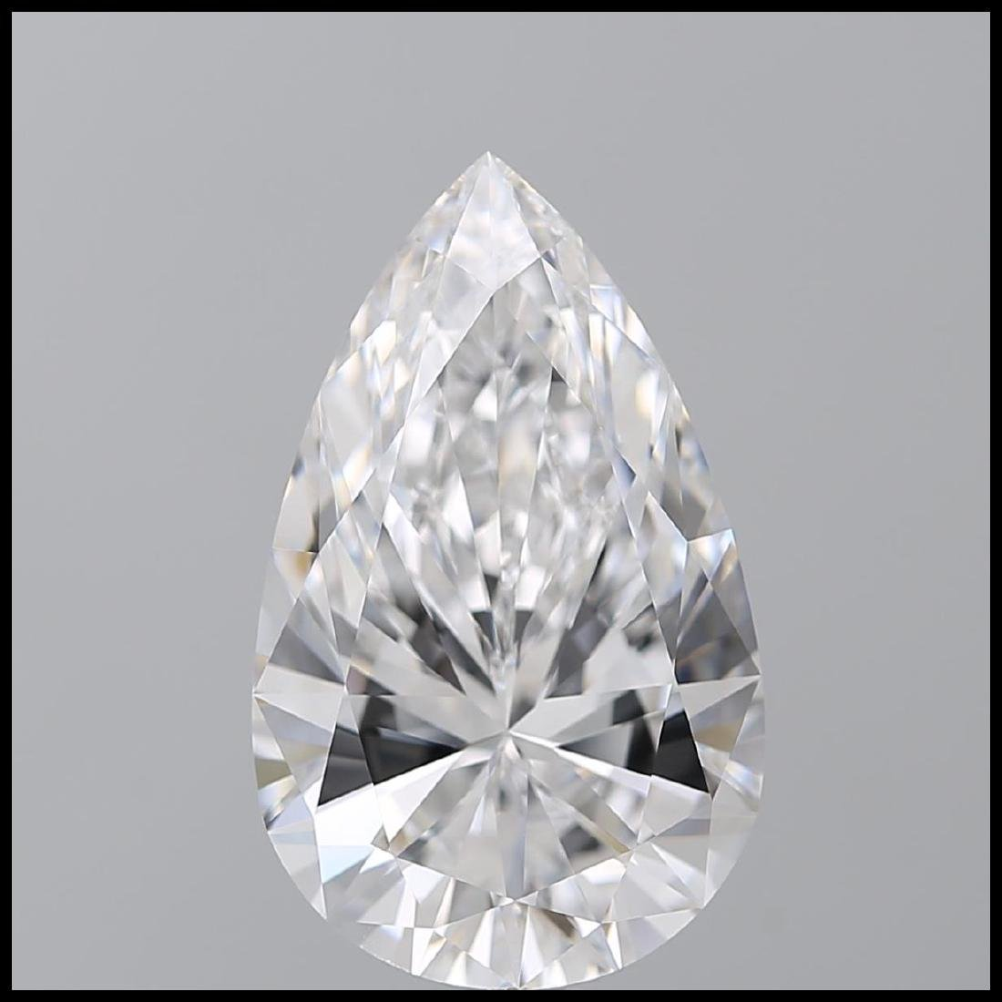 10.01 ct, Color D/IF, Pear cut Diamond - 2