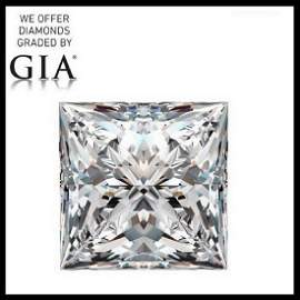 5.02 ct, Color F/VVS2, Princess cut Diamond