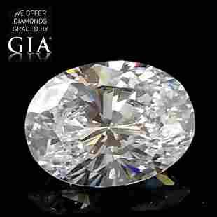 100 ct Color GVS1 Oval cut Diamond