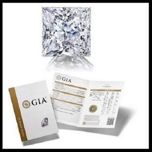 102 ct Color HVVS1 Princess cut Diamond
