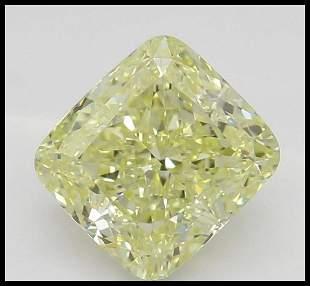 108 ct YellowVVS1 Cushion cut Diamond