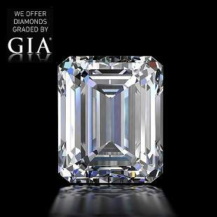 101 ct Color GVVS2 Emerald cut Diamond