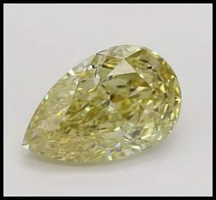 175 ct Brown YellowVVS1 Pear cut Diamond