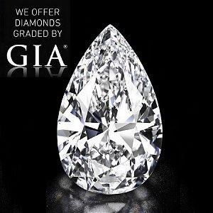 10.20 ct, Color D/FL, Pear cut Diamond