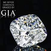 701 ct Color DVVS1 Cushion cut Diamond