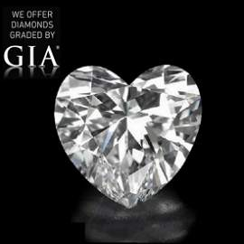5.10 ct, Color D/VVS2, Heart cut Diamond