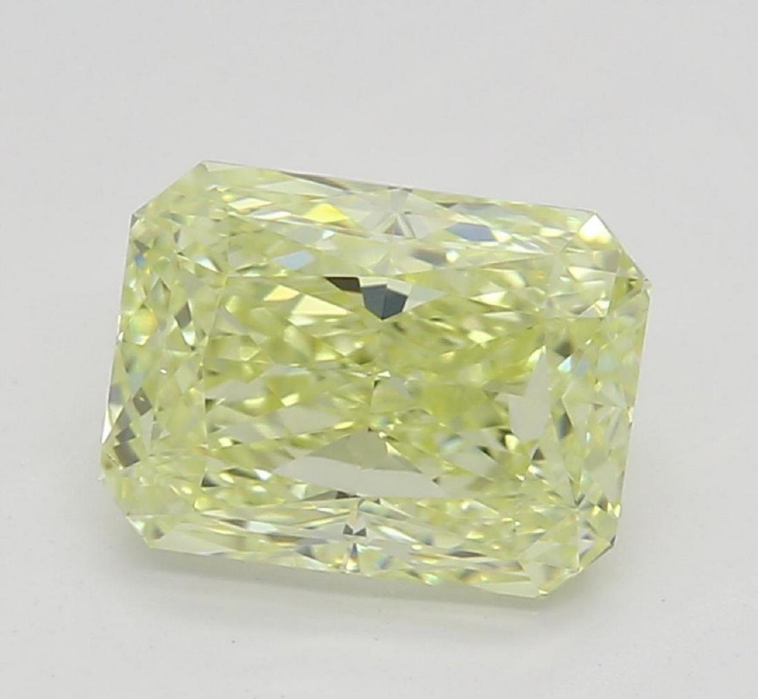 1.00 ct, Yellow/VS2, Radiant cut Diamond
