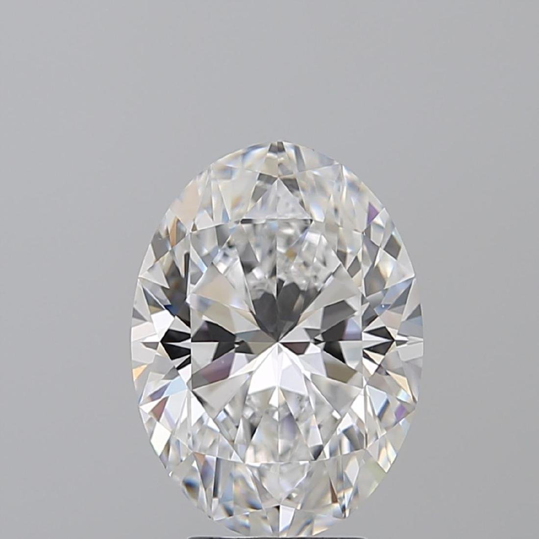4.02 ct, Color D/VS2 , Oval cut Diamond - 2
