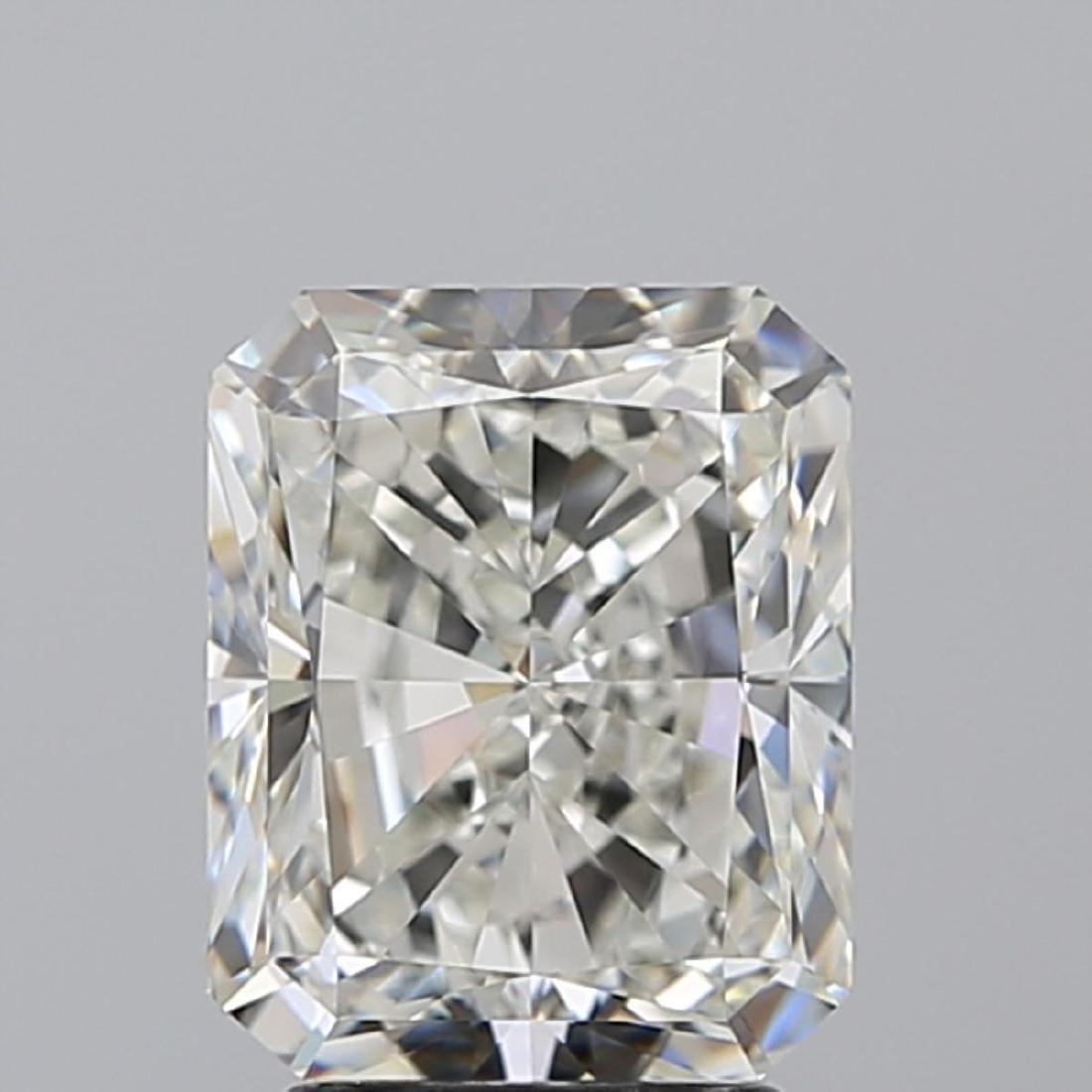 3.02 ct, Color I/VVS2 , Radiant cut Diamond - 2