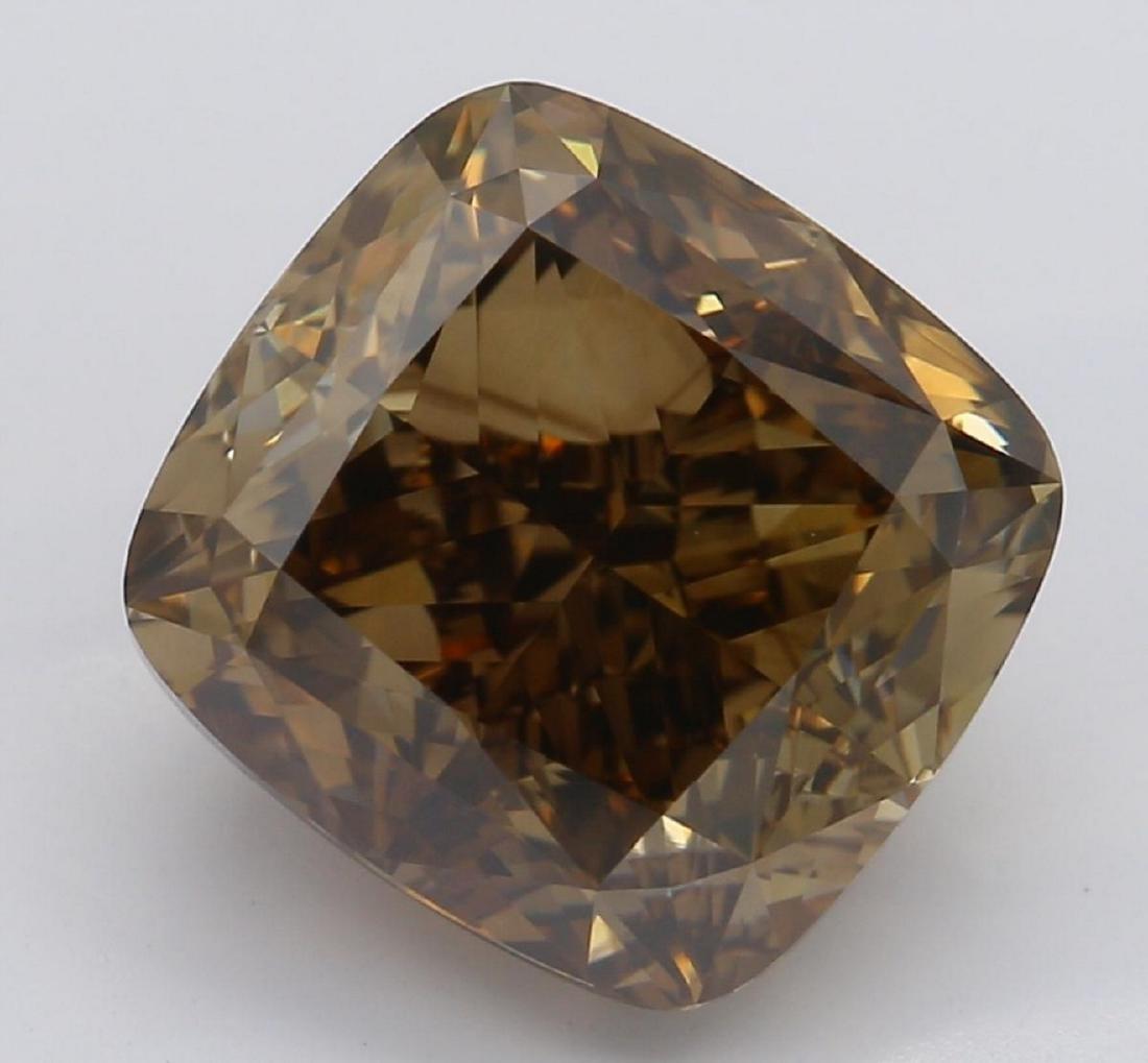 3.70 ct, Brown/VS2, Cushion cut Diamond
