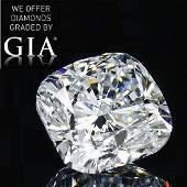 3.02 ct, Color F/VVS2, Cushion cut Diamond