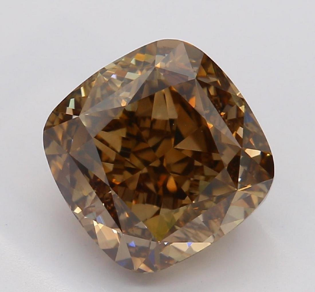 2.14 ct, Brown/VS2, Cushion cut Diamond